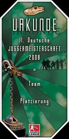 Urkunde 11. Deutsche Meisterschaft 2008