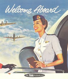 Trans-Australia Airlines poster TAA later became Australian Airlines and merged with Qantas in