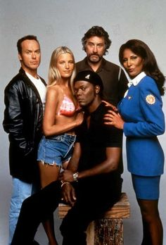 Michael Keaton, Bridget Fonda, Samuel L. Jackson, Robert De Niro, Pam Grier. - Jackie Brown 1997,