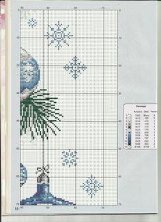Gallery.ru / Фото #57 - 501 - markisa81 Xmas Cross Stitch, Cross Stitch Patterns, Diy Christmas Ornaments, Christmas Cross, Antique Glass Bottles, Perler Beads, Arts And Crafts, Seasons, Embroidery