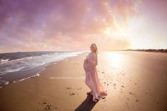 Beige Chiffon Maternity Gown  CUSTOM ORDER by LorasBabyBoutique