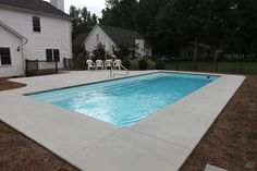 Grand Manhattan by San Juan Fiberglass Pools At San Juan Pools, we are believers in spicing up our d Small Backyard Pools, Backyard Pool Landscaping, Backyard Patio Designs, Small Pools, Swimming Pools Backyard, Pool Decks, Lap Pools, Landscaping Equipment, Landscaping Rocks