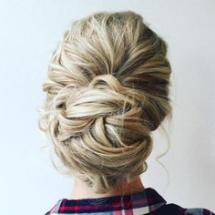 Twisted Messy Bun For Long Hair