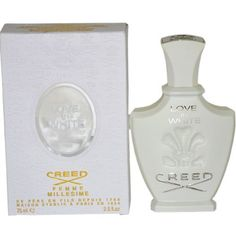 Creed Love In White by Creed for Women - 2.5 Ounce Millesime Spray by Creed. $120.56. 2.5 ounces Millesime Spray. Creed Love In White by Creed for Women - 2.5 ounces Millesime Spray. It is recommended for casual wear. Creed Love In White was launched by the design house of Creed. This product is a fragrance item that comes in retail packaging. It is recommended for casual wear.. Save 40%!