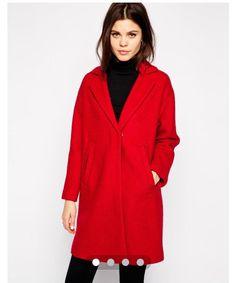 Asos red coat