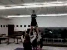 Jefferson High Cheerleaders performing the Elevator Split stunt Cheer Stunts, Cheerleading, Elevator, Wrestling, Concert, Lucha Libre, Concerts, Cheer