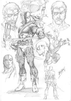 Deathstroke Character Study by comiconart on @DeviantArt