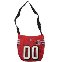 "San Francisco 49ers Jersey Tote Bag (15"" x 4"" x 13"") by Little Earth. $19.99. Save 33%!"