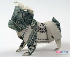 DIY Money Origami – Bulldog Money Origami – Step by Step Tutorials for Star, Flo… – DIY Projects – Reise Origami Rose, Origami Tooth, Instruções Origami, Origami And Kirigami, Useful Origami, Origami Stars, Origami Folding, Easy Dollar Bill Origami, Origami Ball
