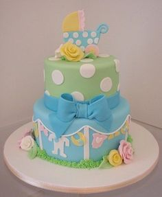clothesline baby boy cake - Google Search