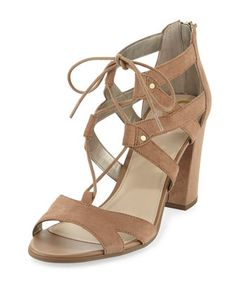 Emilia+Micro-Suede+Lace-Up+Sandal+by+CIRCUS+BY+SAM+EDELMAN+at+Neiman+Marcus+Last+Call.