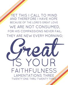Great is your faithfulness / Lamentations 3:21-23 / BIBLE IN MY LANGUAGE