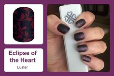 Show off your romantic side with 'Eclipse of The Heart' featuring a dark blue luster-finish background overlaid with rich red elegant blooms. #eclipseoftheheartjn #luster #taylorednails #jamberrybyelisetaylor #wrapoftheday #wotd #jamberry #jamberryuk #mommybusiness #naillover #treatyournails Shop now at https://taylorednails.jamberry.com/uk/en/shop/products/eclipse-of-the-heart