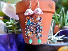Seashell Jellyfish Earrings - Hawaiian jewelry