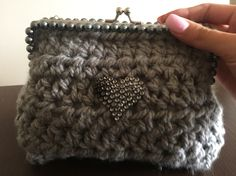 Crochet purse Crochet Purses, Crocheting, Coin Purse, Beanie, Wallet, Hats, Fashion, Crochet, Moda