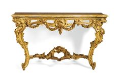 A near pair of Italian carved giltwood console tables, Piedmontese one mid 18th century, the other 19th century | lot | Sotheby's