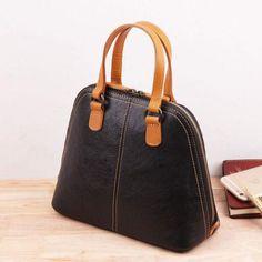 Genuine Leather Handmade Handbag Crossbody Bag Shoulder Bag   Evergiftz