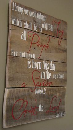 Hand painted Wooden Christmas sign with by WordsofPurpose on Etsy, $60.00