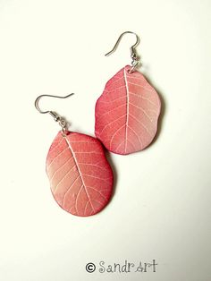 Really amazing fimo leaf earrings... they seem true!