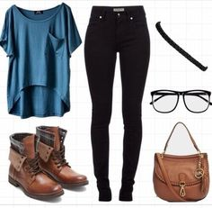 Adorable outfit with a nerd touch