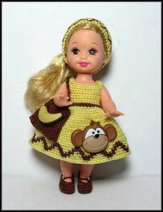 Kelly Doll Crochet Clothes:  Monkey Business.