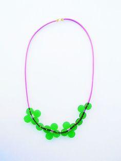 bib spring necklace plastic bold necklace everyday by Jiakuma
