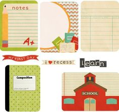 School Journal Cards {freebie}