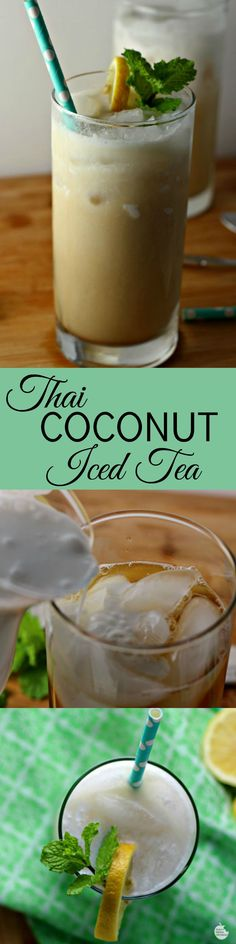 Thai Coconut Iced Tea | by Renee's Kitchen Adventures - Easy recipe for a Thai inspired iced tea drink #QuakerRealMedleys #ad @Walmart