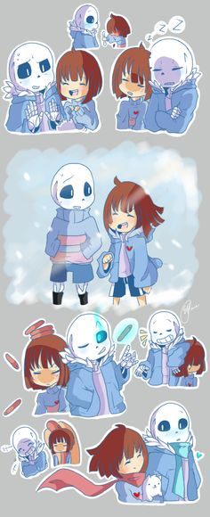 Undertale Doodles : Sans and Frisk by shallowdeepcreation on DeviantArt