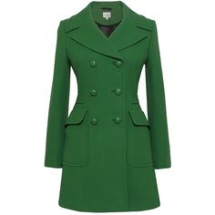 Kaliko Tailored Pea Coat, Bright Green