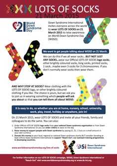 World Down Syndrome Day Lots of Socks campaign