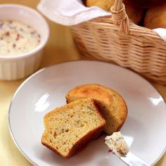 Sage Cornbread Muffins with Cranberry Orange Butter