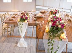 Gorgeous wedding centerpiece runner inspiration | Modern, Rustic Romantic Wedding Inspiration | Capitol Romance ~ Practical & Local DC Area Weddings | Images: Stephanie Leigh Photo & Design