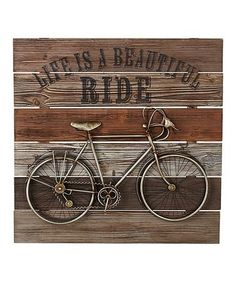 Look what I found on #zulily! 'Life Is A Beautiful Ride' Bicycle Wall Décor #zulilyfinds
