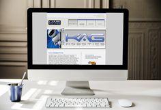 Custom built website for robotics company