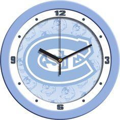 Mens Saint Cloud State Huskies - Baby Blue Wall Clock