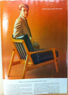 Danish Deluxe 'Inga' chair advertisement. Australian House and Garden, July 1964.