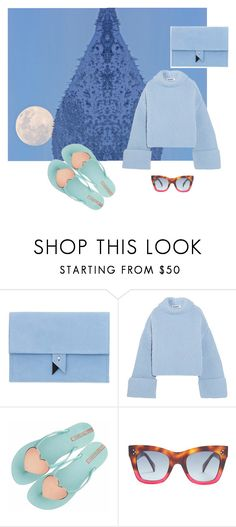 """moon on the man or man on the moon?"" by roxariaone ❤ liked on Polyvore featuring Dora, Jil Sander, CÉLINE, love, personalstyle, polyvorecommunity, polyvoreset and bluepalette"