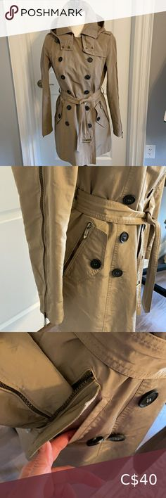 Check out this listing I just found on Poshmark: BCBGMAXAZRIA Tan/Khaki Rainjacket. Size small.. #shopmycloset #poshmark #shopping #style #pinitforlater #BCBGMaxAzria #Jackets & Blazers Plus Fashion, Fashion Tips, Fashion Trends, Blazers, Rain Jacket, Coat, Check, Outfits, Blazer