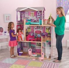 """Jumbo Doll House Furniture 18"""" Large Wooden American Girl Manor Kit Mansion Play #LargeDollHouse #MansionManor"""