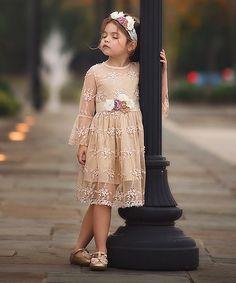 Look what I found on #zulily! Tan Marissa Dress - Toddler & Girls #zulilyfinds
