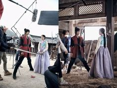 Lee Seung Gi coming at 6 feet tall uses his manner legs while on set for Gu Family Book