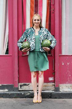 Zum Tag der Wassermelone gibt es von Kathrin ein farbenfrohes Styling! Wie findet Ihr es?