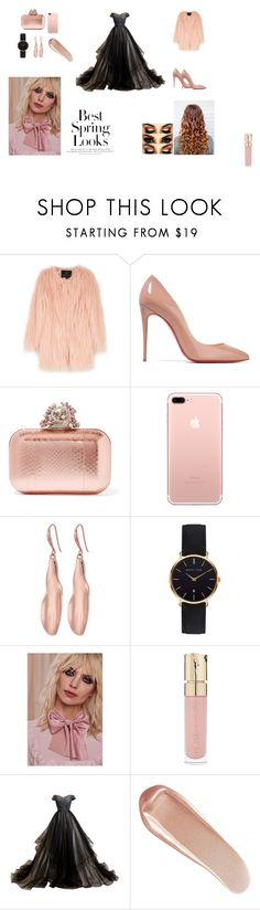 """""""Only for my most beloved fans."""" by elma-432 ❤ liked on Polyvore featuring Unreal Fur, Christian Louboutin, Jimmy Choo, Robert Lee Morris, Abbott Lyon, Lena Bernard, Smith & Cult, NARS Cosmetics, H&M and cute"""