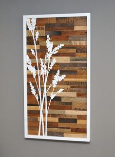 i like this idea for reclaimed/stained/painted wood. we could have color families or all colors, assemble in to frame, then stencil quote on top once dried and assembled.