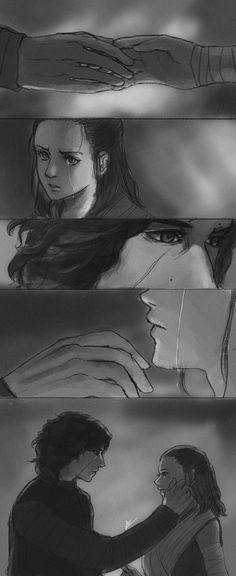 "vuquynhanh1995: ""Another doujinshi of mine :) Whenever she be with him. She cried. Almost everytime. And you don't know how to comfort her you Ben S…tupid. Let me teach you how to treat a lady. Young Kylo. Anyway, Happy new year :D """