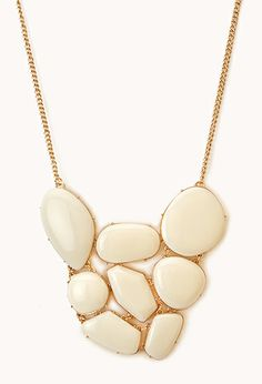 Faux Stone Cluster Necklace   FOREVER21 - 1000047786