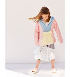 ZARA - ENFANTS - COUPE-VENT COLOR BLOCK