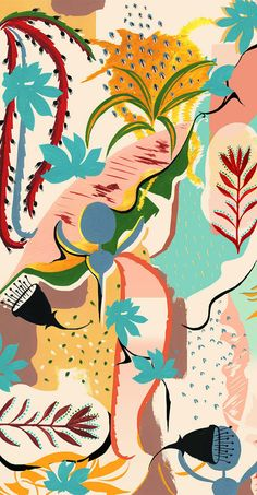 Night jungle pattern - irina muñoz clares | fashion graphics + illustration