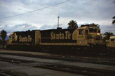 Santa Fe B23-7 No. 6414 & GP39-2 No. 3703 Sitting In The Yard At Needles - March 7, 1992